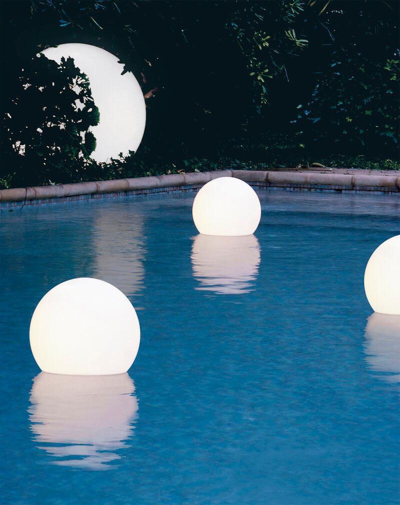 glob luminos de piscina
