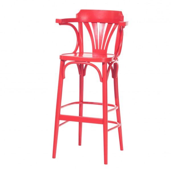 scaun de bar rosu