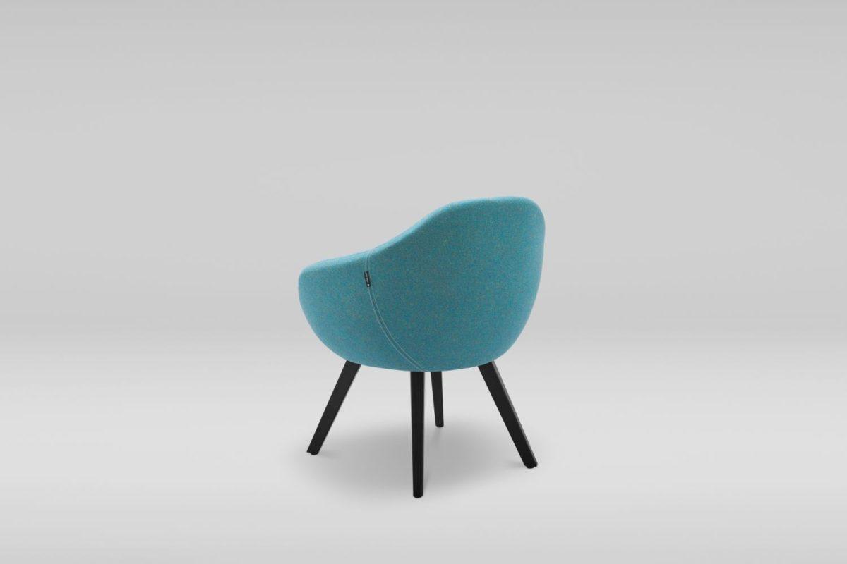 scaun lemn tapitat
