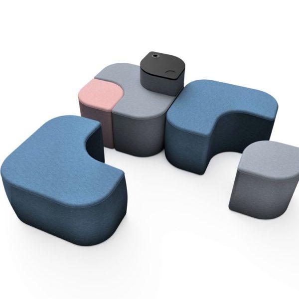 Tabureti Modulari colorati