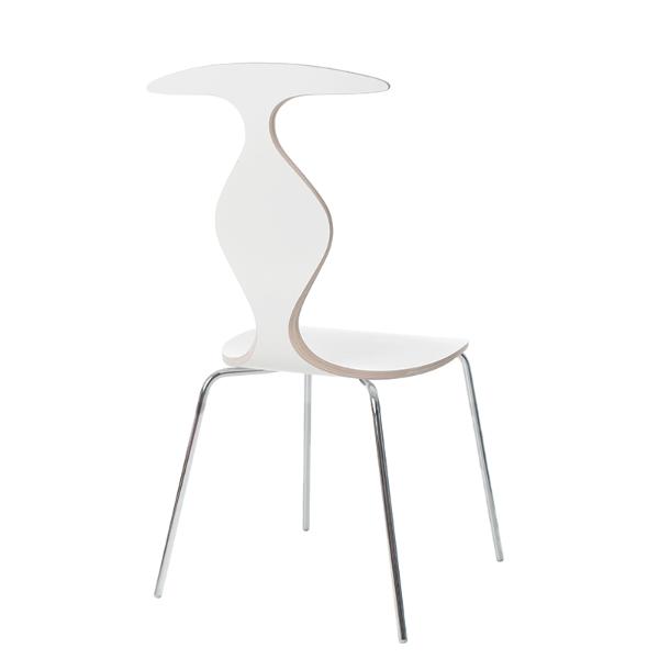 scaun alb cafenea