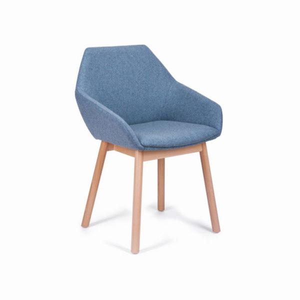 scaun din lemn tip scoica