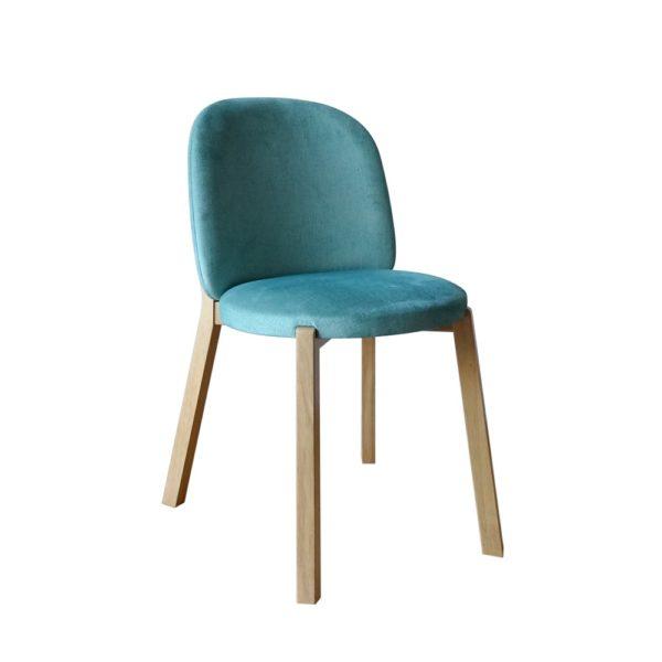 scaun tapitat din lemn de fag
