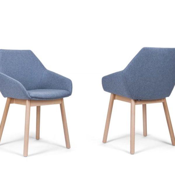 scaune din lemn tip scoica