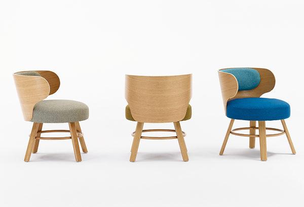scaune tapitat spatar din placaj