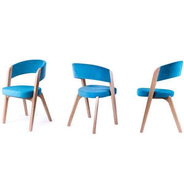 scaune tapitate din lemn